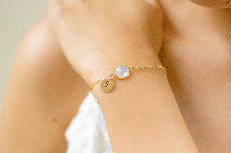 Dainty Bridesmaid Bracelet | Dainty Initial Bracelet | Tiny Initial Bracelet | Bridesmaid Initial Bracelet | Birthstone Bracelet