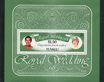 Lady Diana Royal Wedding Souvenir Sheet /Unused Issued  in Tuvalu