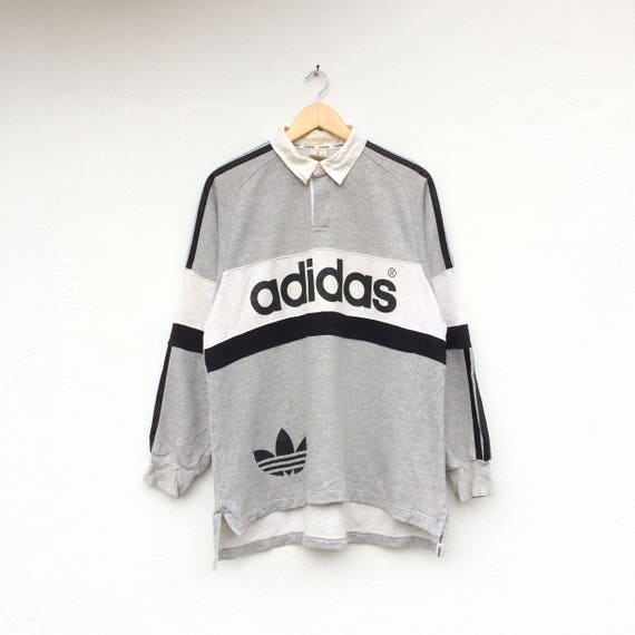 Logo ADIDAS Polo Big Vintage Shirt Rugby Spellout q4wEnCS
