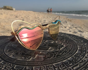 PiNK HEART Womens Sunglasses Glasses, SPuNGLASSES, Festival, Music, EDM, Rave, EDC, Party, Eyewear, Sunnies, Every pair is a piece of art