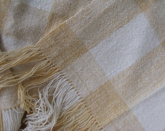 wool and mohair handspun and handwoven blanket