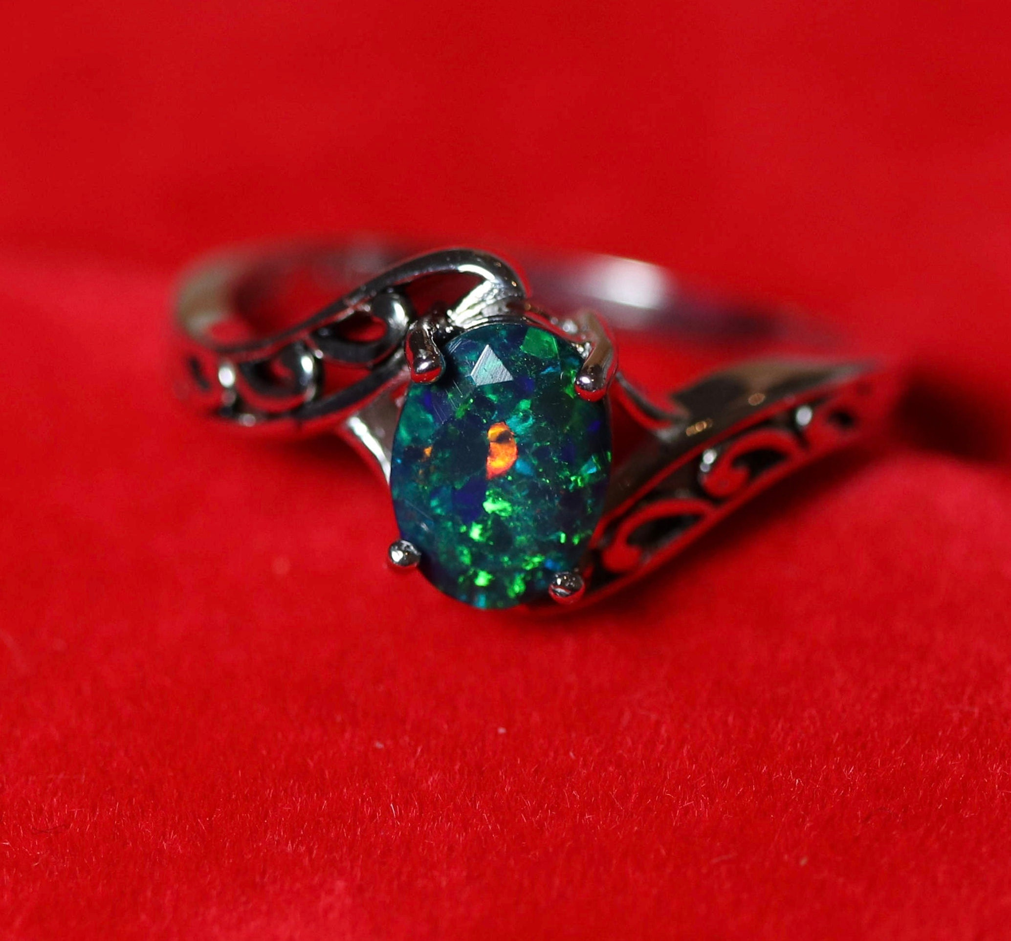 solid engagement black rings ring white watch gold youtube opal