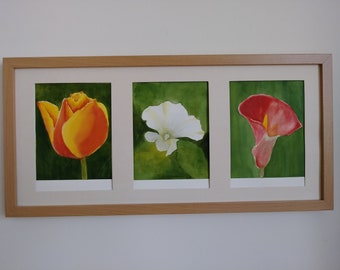 watercolour paining of flowers original