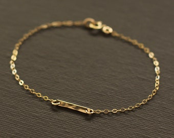 Gold Bar Bracelet - 14K Gold Filled Bar Bracelet