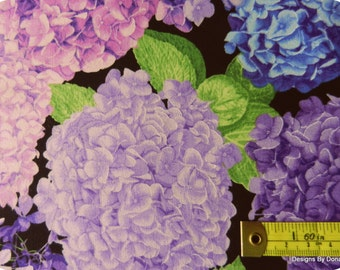 One Fat Quarter Cut Quilt Fabric, Blue, Purple, Mauve Hydrangea by CHONG-A HWANG for Timeless Treasures, Sewing-Quilting-Craft Supplies