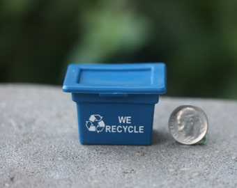 Dollhouse Miniature One Inch Scale 1:12 Recycling Bin