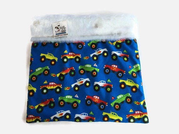 Monster Truck Snuggle Sack, Guinea Pig Bed, Cage Accessories, Pocket Dog Pouch, Chihuahua Bedding, Burrow Bag, Cuddle Cup, Hamster Cave