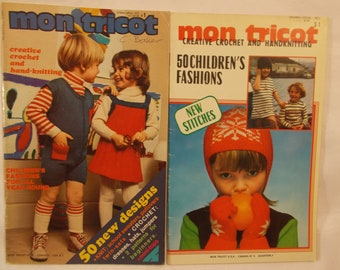 Mon Tricot Knitting Lot of 2 magazines (5)