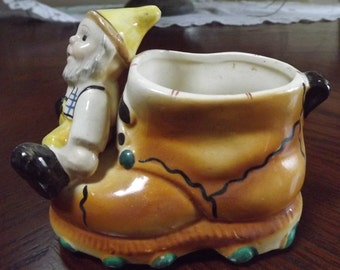 Vintage 1960's Gnome  Norwegian Swedish Boot  Planter