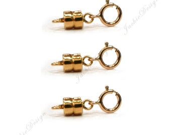 14K Rose (Pink) Gold Filled Interchangeable Magnetic Clasps Easy Convertable JD01RGF- 3 sets