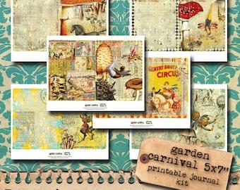 Garden Carnival Printable Journal Kit - NEW SIZE