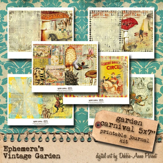 Garden Carnival Printable Journal Kit