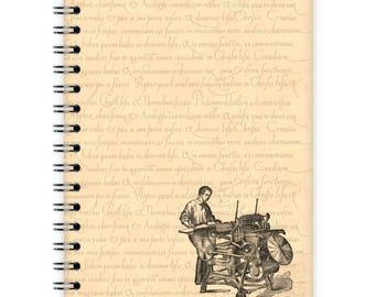 Vintage Notebook A6 - Printer