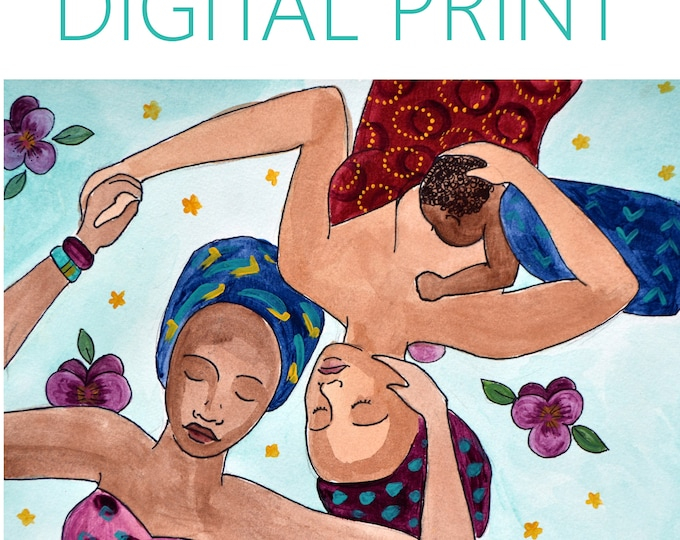 "DIGITAL ""Comfort"" print/poster /breastfeeding art/ doula/ gift for new mom"