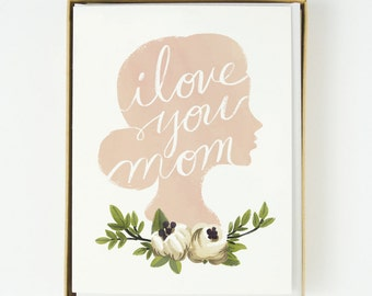 I Love You Mother's Day Card 8pcs