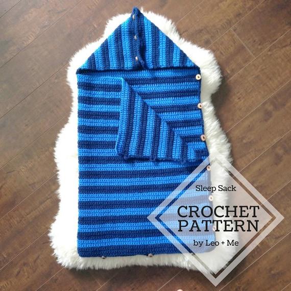 Crochet Baby Sleep Sack Pattern // Baby Bunting Bag // Easy