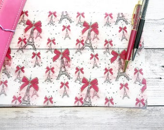 See You in Paris Vellum Sheet - Adored Collection