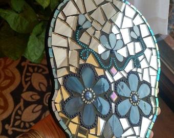 Mosaic sugar skull art decor plaque Dia De Los Muertos day of the dead
