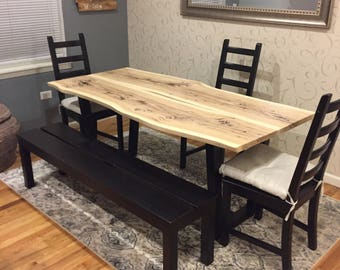 MADE TO ORDER Live edge dining table. Local shipping/pickup only