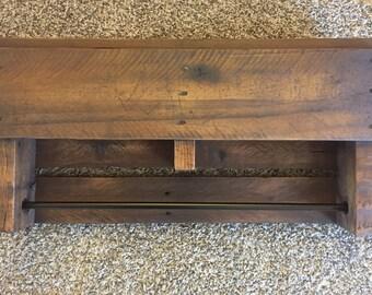 Reclaimed Pallet Wood Towel holder