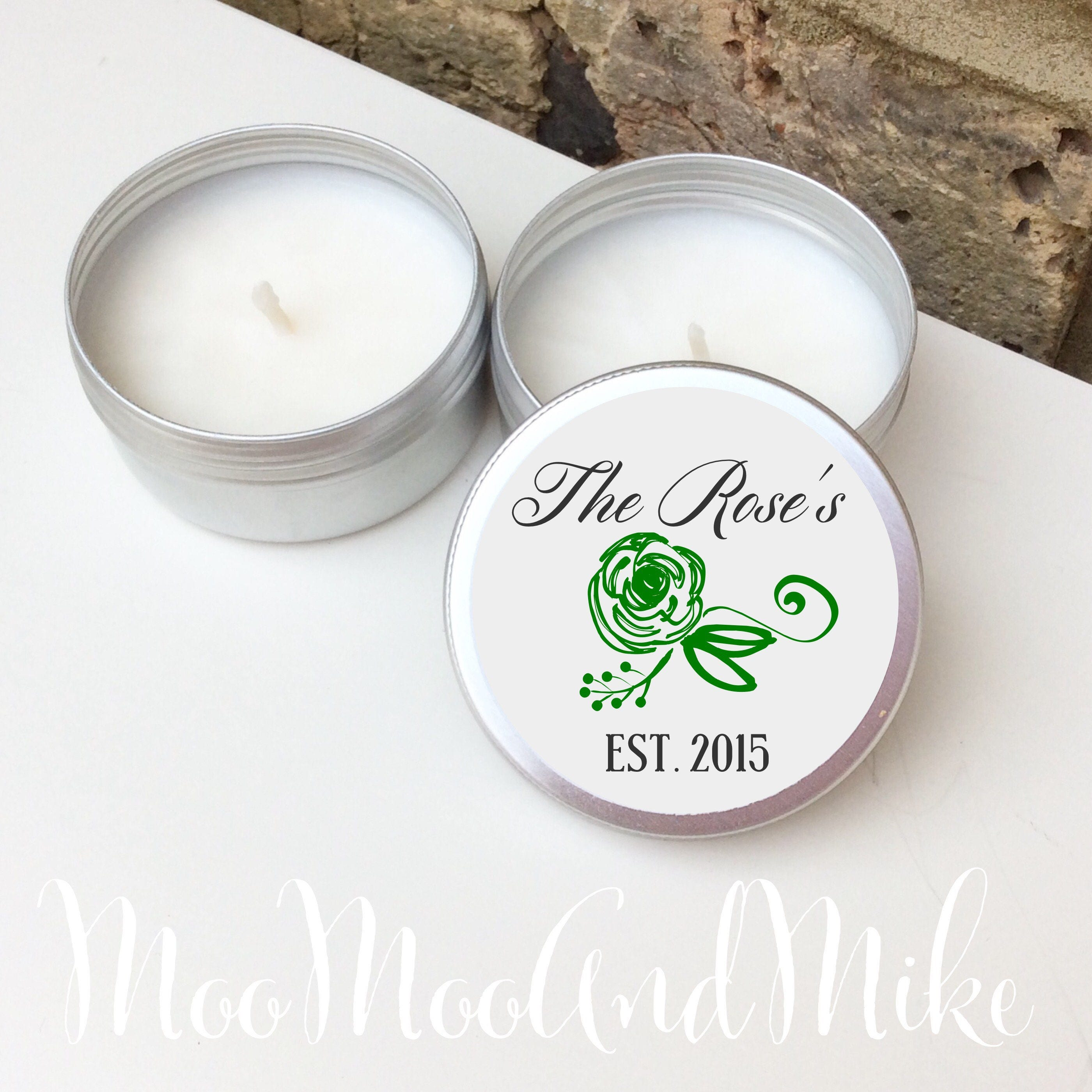 Set of 10 personalised candle Wedding Favours - Soy Favour Candles ...