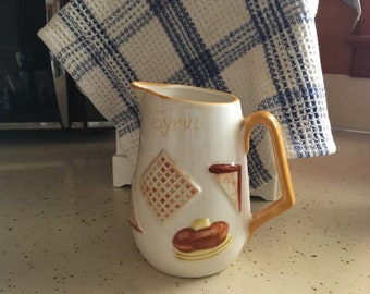 1960s syrup napcoware pitcher