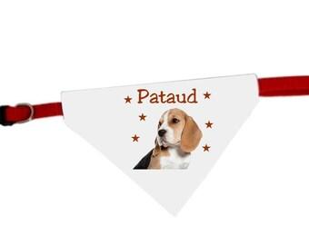 Necklace personalized with name beagle dog bandana
