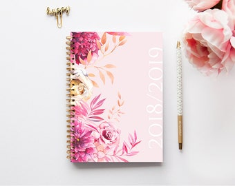 A5 Planner - 2018-2019 Planner - 2018-2019 Weekly Planner - Personalized Planner - 2018 Diary - Custom Gift -  2018 Agenda