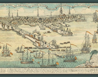 Poster, Many Sizes Available; British Landing In Boston 1768 Paul Revere'S 1768 Engraving