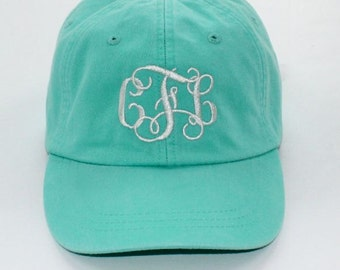 Monogrammed Baseball Cap Adams Pigment Dyed Hat