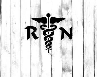 Registered Nurse, Caduceus Symbol - Car/Truck/Home/Phone/Computer/Laptop Decal