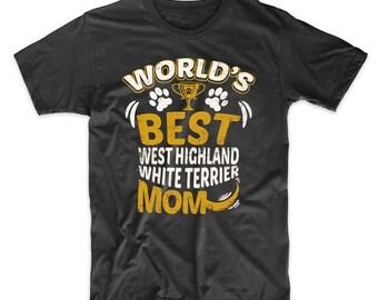 World's Best West Highland White Terrier Mom Dog Owner Graphic T-Shirt