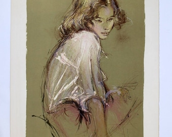 Jacques Pecnard Signed Numbered Portrait of a Girl 160/250