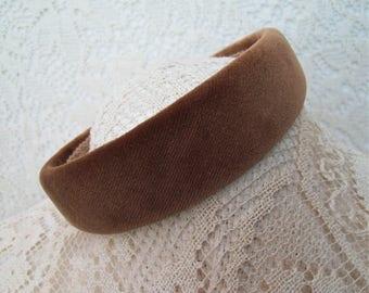 gold velvet head band