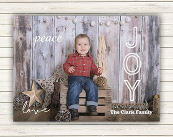 Photo Christmas Cards, Personalized Christmas Cards, Christmas Cards, Flat Photo Christmas cards, Baby Photo Christmas Card, Merry Christmas