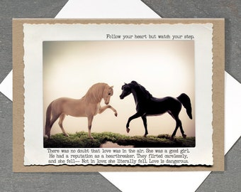 Horse Greeting Card • Funny Love Card • Card for Horse Lover • Everyday Empathy • Funny Greeting Card • Toy Horse Card • Just Because Card