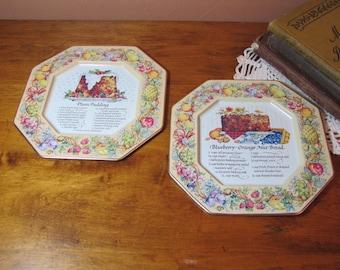 Two (2) Vintage Avon Metal Recipe Trays
