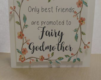 Pregnancy Announcement Card- Fairy Godmother Card- Best Friend Card- Godmother Card- Cute Pregnancy Announcement