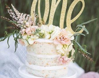 One cake topper | 1st Birthday | Cake Topper | First Birthday | Birthday | Smash Cake | Cake Banner | Cake Decoration | 1st Birthday Cake