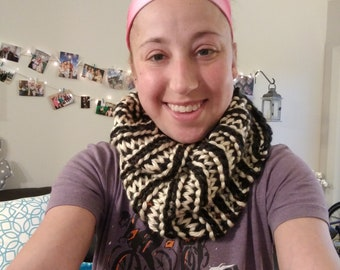 Hand Knit Cowl by Heart Lung Transplant Recipient
