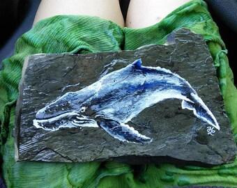 Humpback Whale Slate Rock (large size)