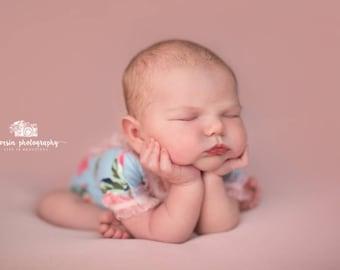 Newborn Romper, Baby Girl Romper, Newborn Girl Romper, Photography Prop, Newborn Props, Newborn Girl Outfit, Floral Romper, Girl Photo Prop
