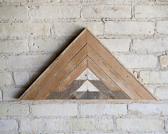 Reclaimed Wood Wall Art | Wood Wall Art | Reclaimed Wood | Wood Art | Rustic Geometric | Wood Decor | Handmade | Mountain Art Triangle Wood