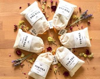 Tub Tea U Pick 1 - Lavender, Rose, Chamomile, Unwind, Summer Nights or On the Mend