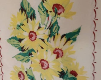 Vintage Sunflower Tablecloth