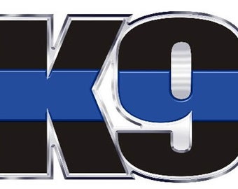 Thin Blue Line K-9 Cutout Letters Reflective Decal SKU: D1095-0002