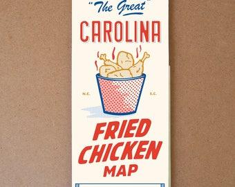 Carolina Fried Chicken Map