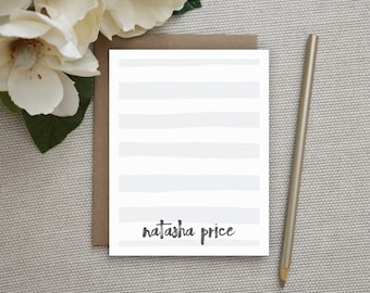 Personalized Stationery. Personalized Notecard Set. Personalized Stationary. Personalized Notes / Note Cards. Personalized. Sketch Stripes.