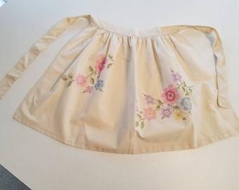 Cute cross stitch apron
