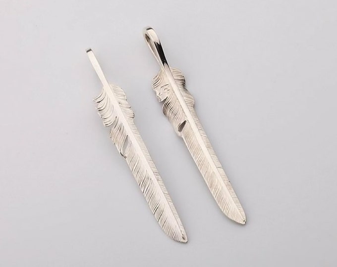 925 Silver Feather Pendant | Native American Inspired | Feather Jewelry | Eagle Feather Pendant | Tribal Feather Charm | Feather Necklace